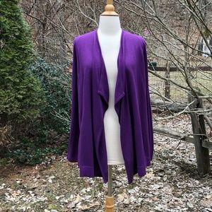 J. Jill XS Purple Draping Cardigan Sweater